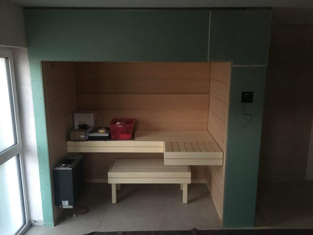 sauna die schreinerwerkstatt einfamilientraumhaus mit noriplana. Black Bedroom Furniture Sets. Home Design Ideas